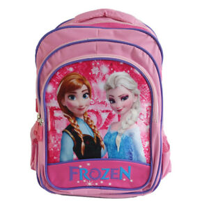 0b27401dcc4 Kids Girls Backpack Large School Bag Disney Frozen Elsa   Anna Olaf ...