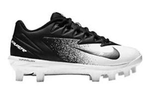 457d98ef0 Nike Vapor Ultrafly Pro MCS BG Black   White Cleats Size 5Y