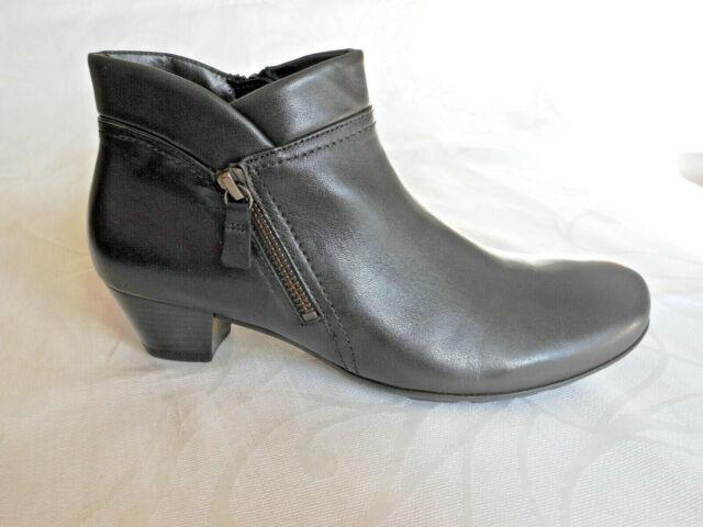 Gabor Emilia black leather ankle boots