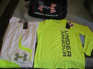 NEW Girls 2Pc OUTFIT UNDER ARMOUR COLDGEAR STORM Gry Hoodie+Pants YMD FREE SHIP