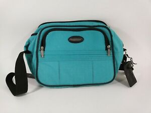 Vintage-Jaguar-Blue-Green-Overnight-Bag-Travel-Shoulder-Strap-Luggage-Bag