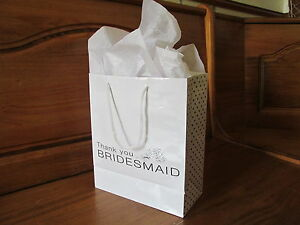 Wedding Gift Bags For Bridal Party : ... Paper Gift BAGS wedding gift bridesmaids FREE SHIP party favors eBay
