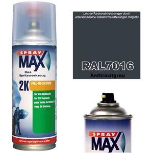 spraydose 2k lackspray matt seidenmatt gl nzend ral 7016. Black Bedroom Furniture Sets. Home Design Ideas