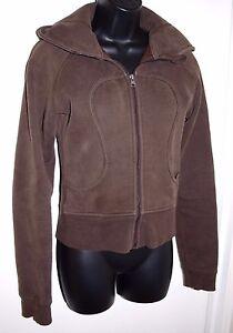Lululemon-Womens-Size-6-Long-Sleeve-Brown-Scuba-Hoodie-Full-Zip