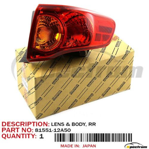 Toyota OEM 8155112A50 09-10 Corolla Rear Combo Lamp Assembly Right 81551-12A50