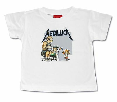 Metallica Scary Guy Toddler Infant Blue Ringer T Shirt New Official Baby
