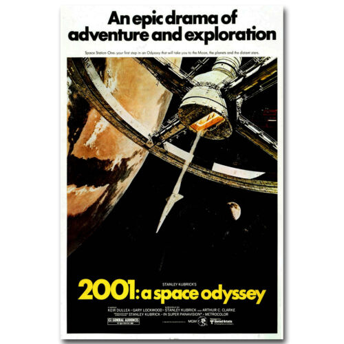 1968 2001 Space Odyssey Movie Vintage Silk Poster 12x18 24x36 inch