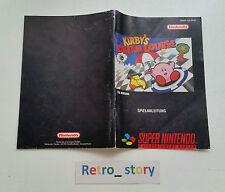 Super Nintendo SNES Kirby's Dream Course Notice / Instruction Manual - NOE