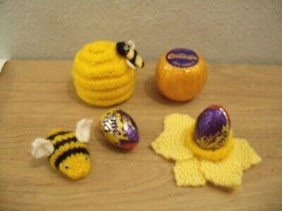 Beehive chocolate orange covers Knitting Pattern Bee /& Daffodil Creme Egg