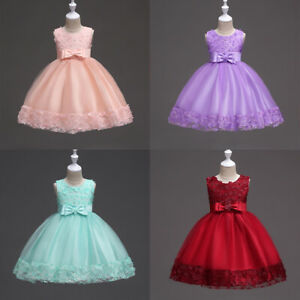 Flower-Girl-Dress-Sequins-Pageant-Prom-Ball-Gown-for-Baby-Kid-Communion-Wedding