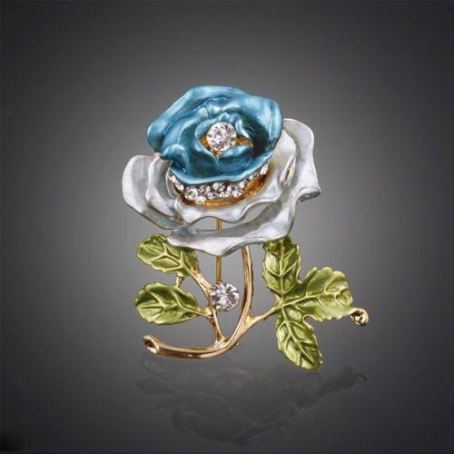 Femmes Bijoux Vêtement Décoration de mariage nuptiale épingle Rose Fleur Cristal Broche