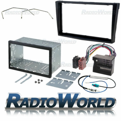 Vauxhall Astra H Piano Black Double Din Fascia Panel Adapter Cage Fitting Kit