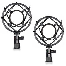 Neewer 2-pack Black Universal Microphone Shock Mount Holder Clip