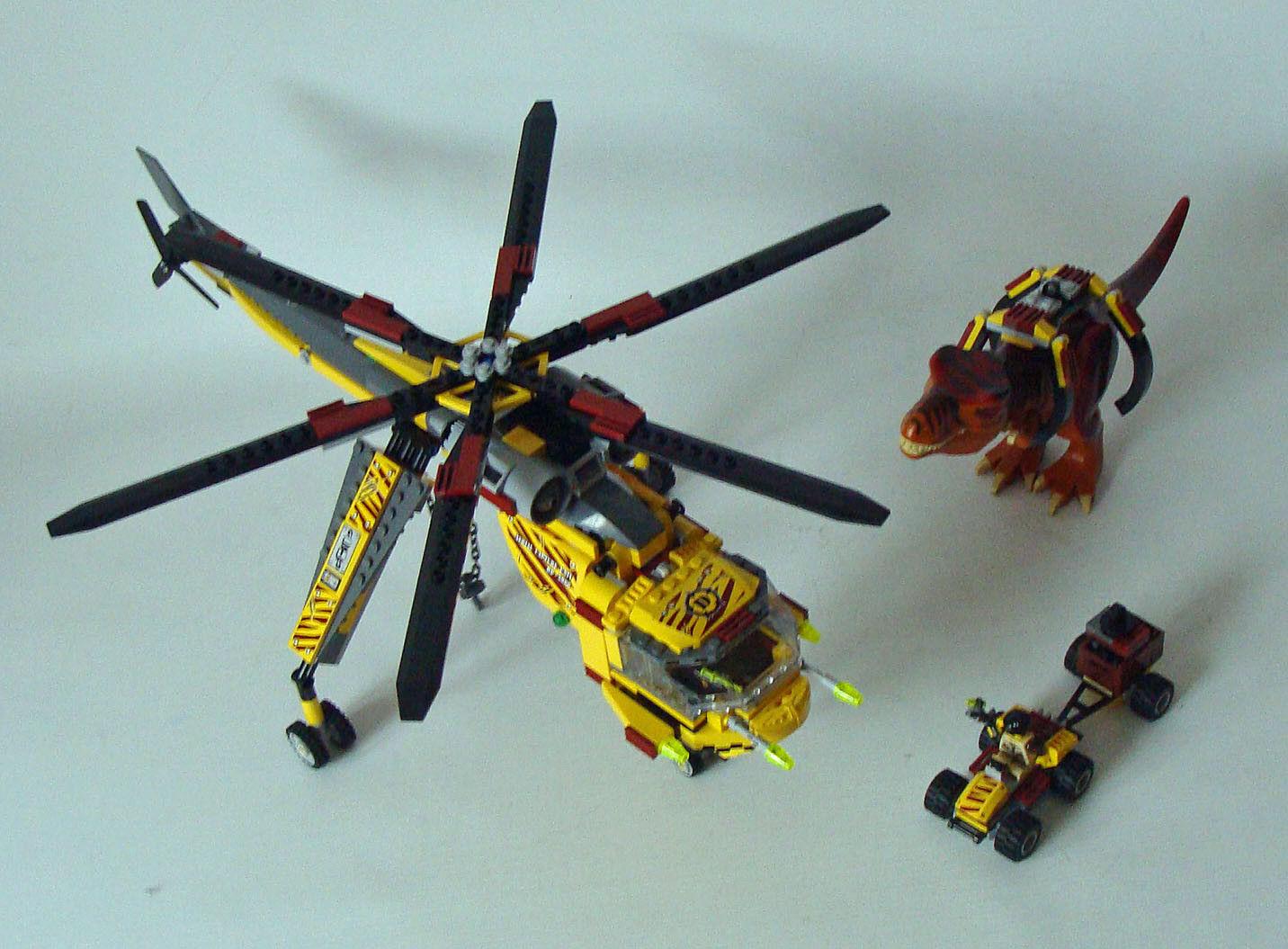 LEGO ® Dino 5886-T-REX trasporto elicottero  7-12 anni Usato USED  autentico