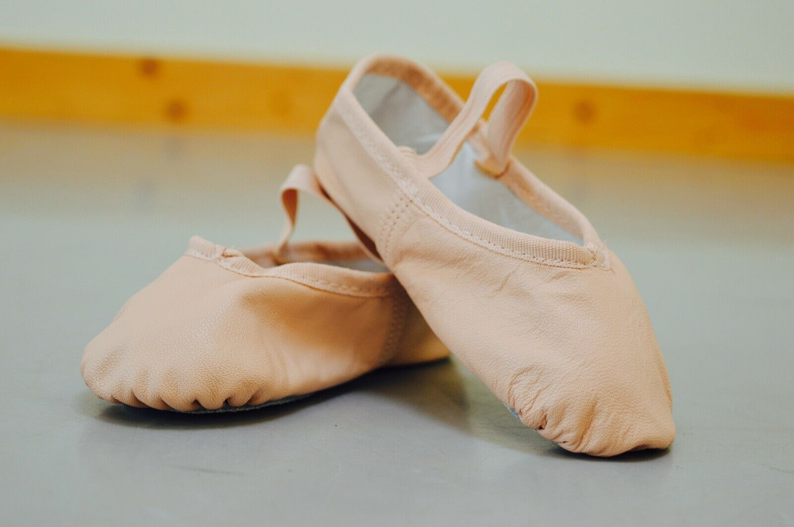 Pink Ballet Shoes, Soft leather, Full Sole. So Danca, Size Child 7