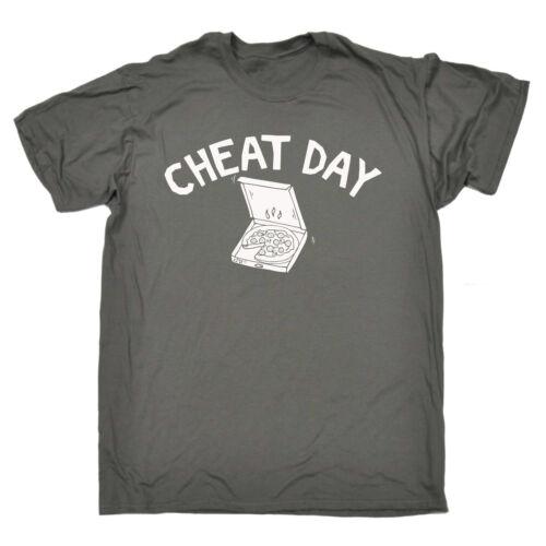 Funny T Shirt triche jour Pizza Anniversaire Blague Humour Tee Tshirt T-Shirt