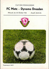 CWC EC II 84/85 Dynamo Dresden - FC Metz, 24.10.1984