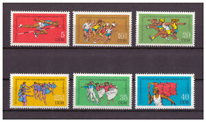 DDR-Turn-und-Sportfest-Kinder-amp-Jugendspartakiade-MiNr-2241-2246-1977