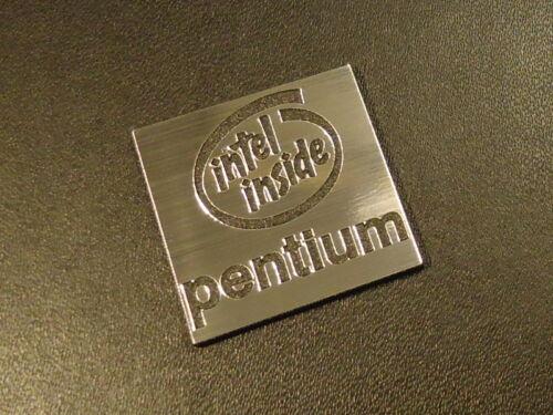 Sticker Badge 25 x 25 mm Logo Intel Pentium Label 286
