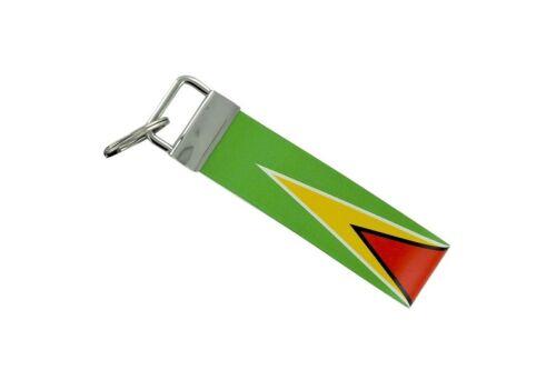 Keychain stripe key lanyard flag keyring ring car jdm band remote guyana