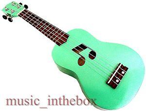Beautiful 21' Special Green Color with Music Hole Soprano Ukulele & Ukulele Bag