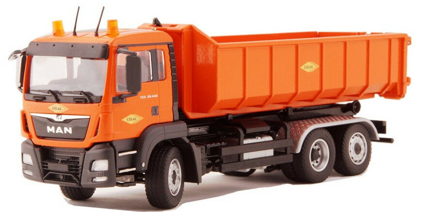 CON77217 02 - Camion 6x4 TGS EURO 6 MEILLER benne déroulante aux couleurs COLAS