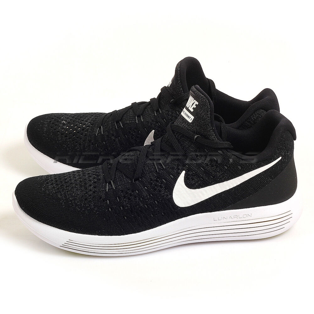 timeless design bfef8 dc77c Nike Nike Nike Lunarepic Low Flyknit 2 Black White-Anthracite Lunarlon Running  863779-