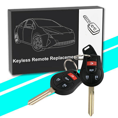 2 For 2010 2011 2012 Nissan Versa Keyless Entry Remote Car Key Fob