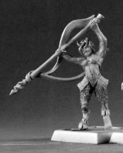 1-x-ELVEN-FAUN-attacking-WARLORD-REAPER-miniature-figurine-jdr-rpg-14651l
