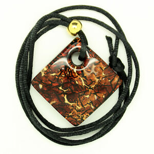 3123a0fef96 Image is loading Brown-Gold-and-Black-Rectangular-Murano-Glass-Venetian-