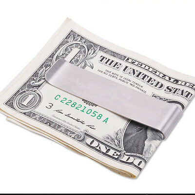 Practical Money Cash Clamp Wallet Clip Credit Card Stainless Steel Holder Wallet