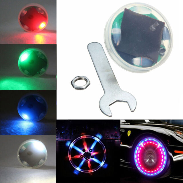 Top Solar Energy LED Car Auto Flash Wheel Tire Valve Cap Neon Light 15 Mode Lamp