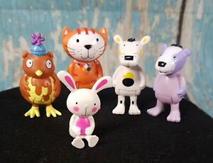 Poppy Cat &Friends Figures New Pack of 5 Play set  Stocking Filler