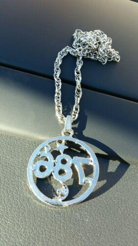 Silver Plated Islamic Muslim 786 Islam Pendant Car Rear Mirror Hanging in Black