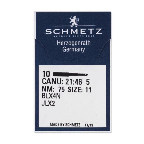 Grosor Schmetz 75 jlx2//10 agujas de Bernina para la costura cover recomendado #7464