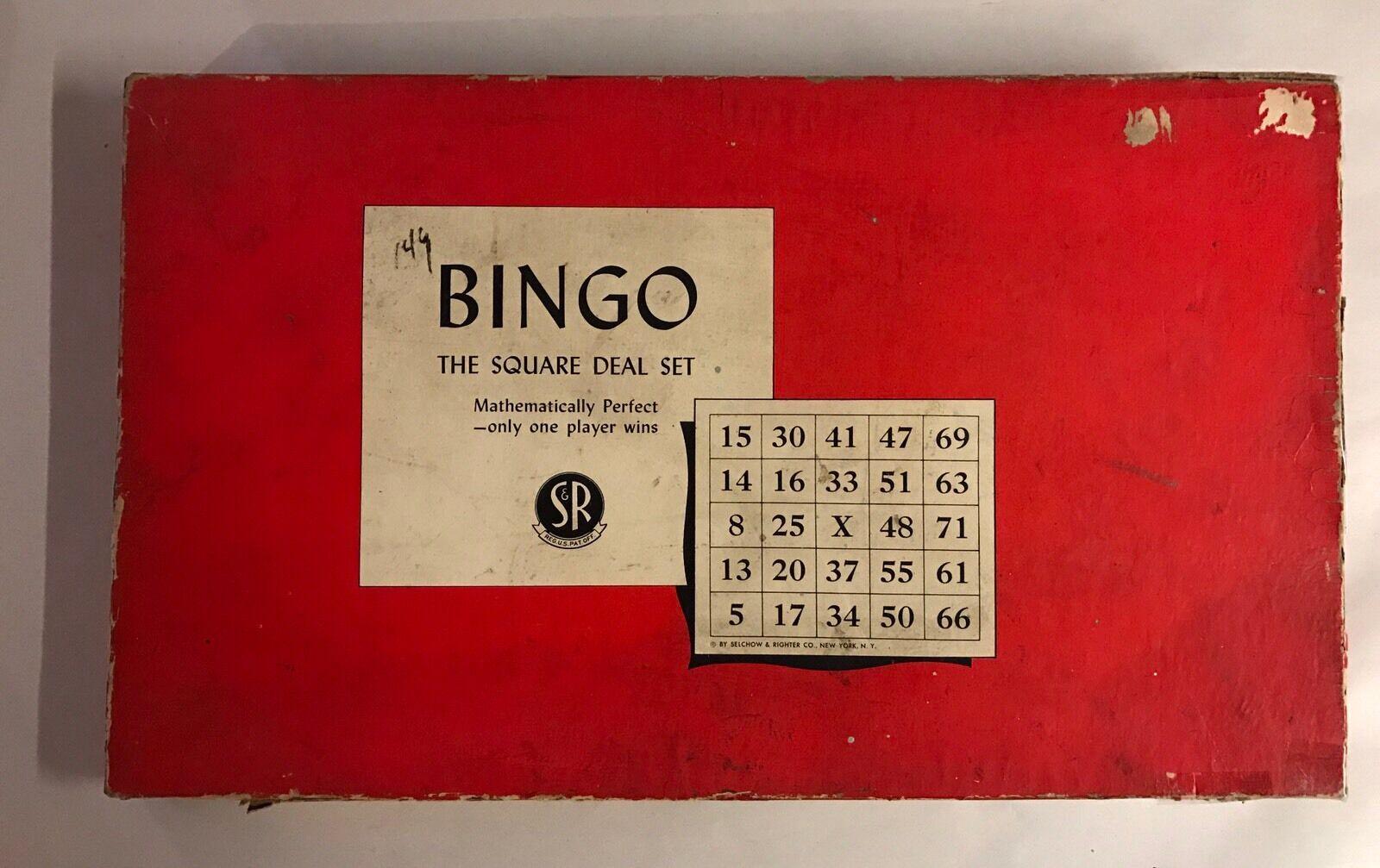 Jahrgang 1936 selchow rechter bingo spiel abgemacht hat karten markierungen, usa