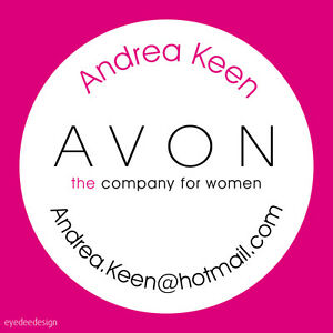Personalised AVON sellers makeup party box loot bag stickers label free gift 585