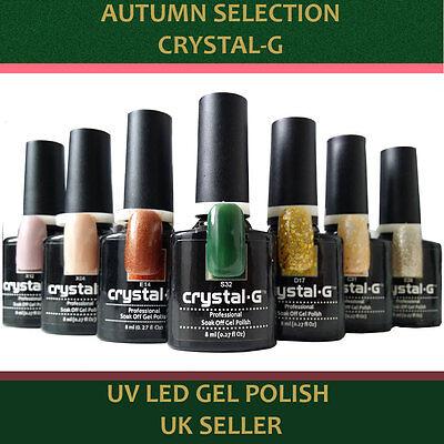 UV Gel Nail Polish Crystal-G New Autumn Colours Soak Off LED Varnish *UK*