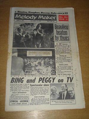 Melody Maker 1961 August 5 Beaulieu Festival Bing Crosby Peggy Lee Sinatra + Elegante Vorm