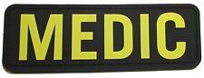 3D PVC MEDIC XL PARAMEDIC EMT EMS RESCUE FIRST RESPONDER VELCRO® GOLD SWAT PATCH