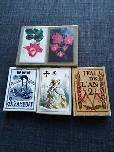 Lot-de-4-paquets-de-cartes-jeux-anciens