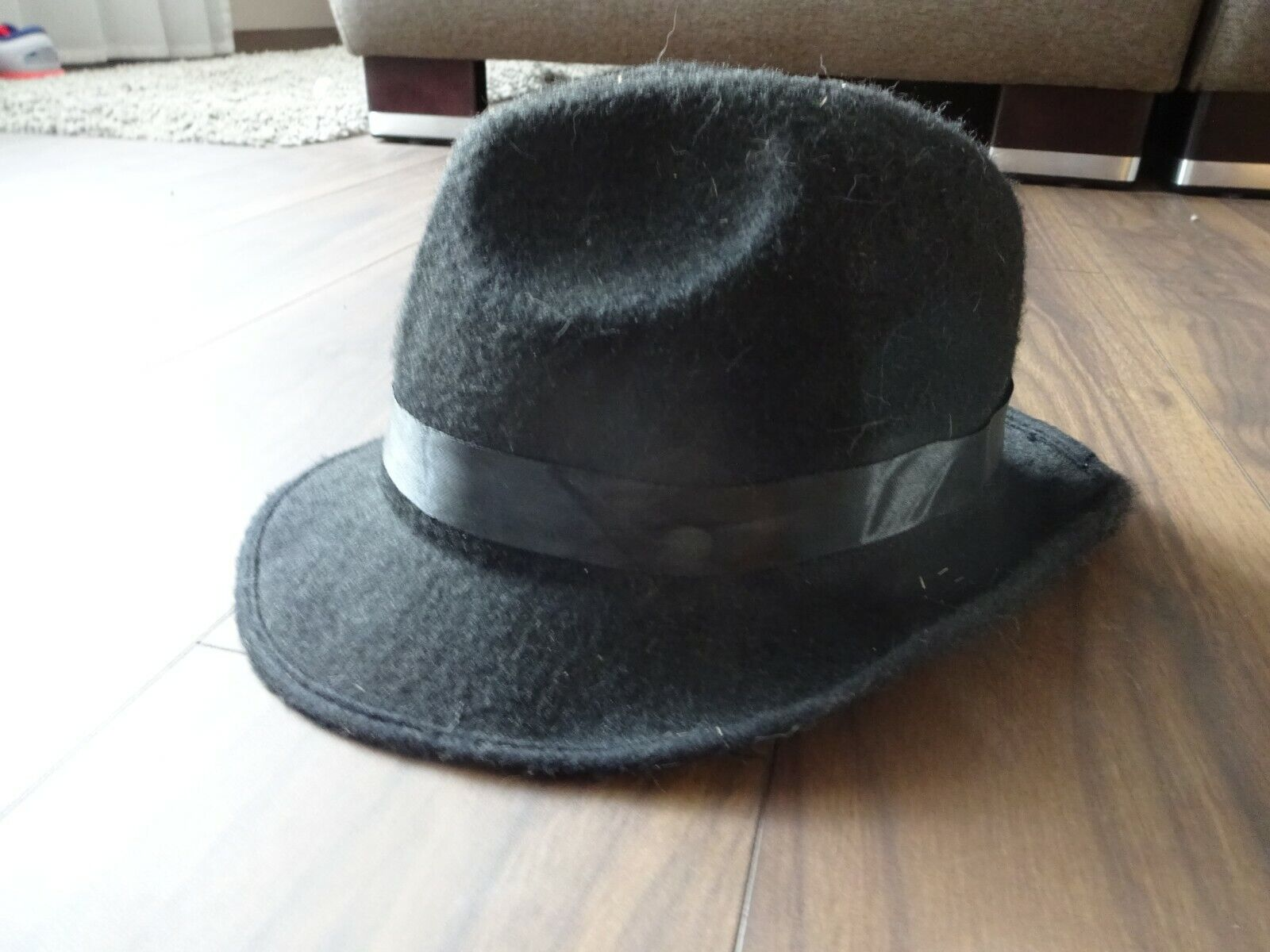 ** NEW STYLE ** Trilby Mens Hat-Black-Size 58 59 60-Fedora ** Top **