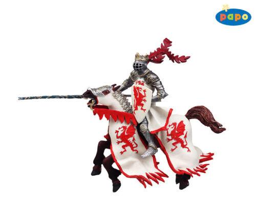 Papo 39388 Dragon Roi avec cheval rouge chevaliers et châteaux Papo 39386