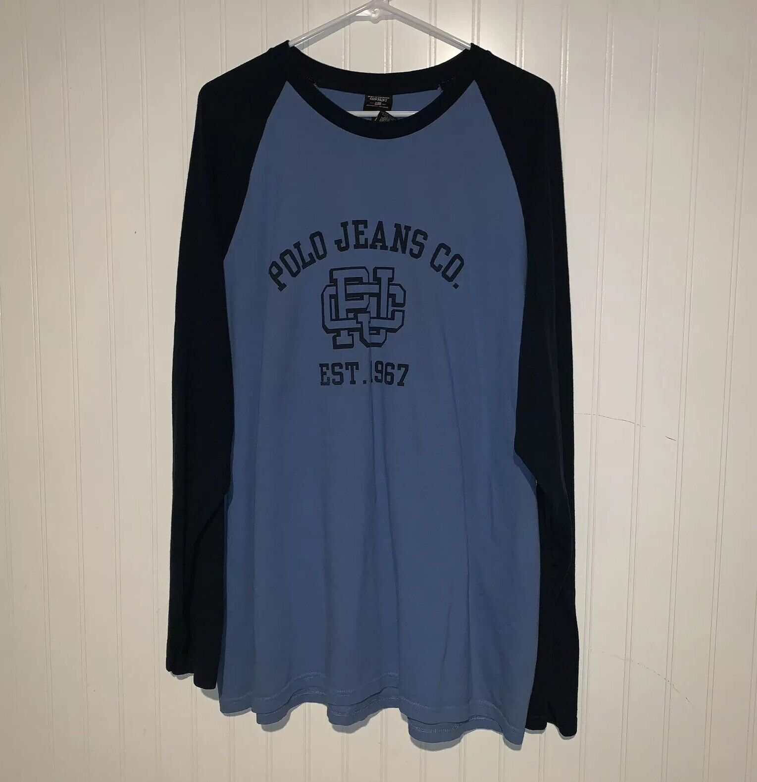 Vintage Polo Jeans Co Ralph Lauren Long Sleeve T-Shirt Spell Out 2XL XXL 90s