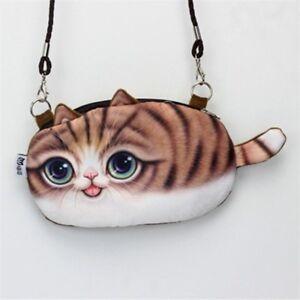 Small-Fashion-Cartoon-Pouch-Clutch-Shoulder-Cat-Bag-Coin-Purse-Zipper-Closure