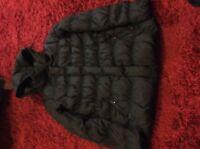 Ladies Duck Down Black Jacket By Mango Size Medium.
