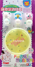 Auldey Tomy Pokemon Clefairy, Squirtle, Jigglypuff Mini Roll Stamp