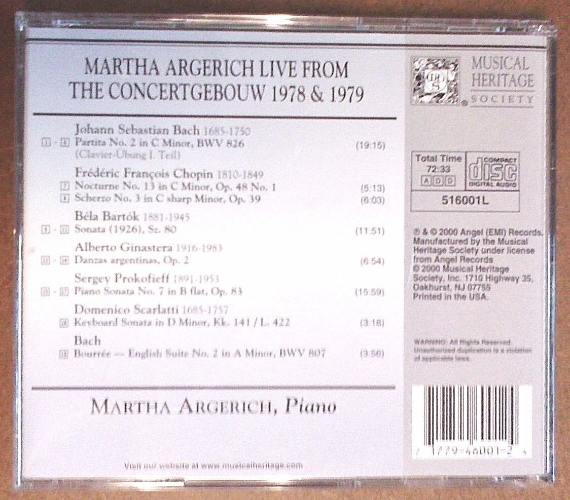 Live from the Concertgebouw, 1978 & 1979 (CD, Mar-2000, Warner Classics  (USA))