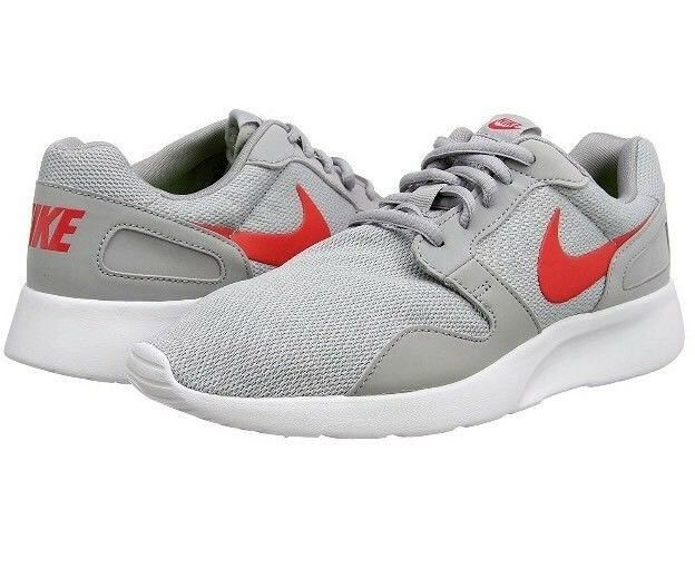 New Mens Nike Kaishi Running Trainers Wolf Grey / Daring Red  Special limited time