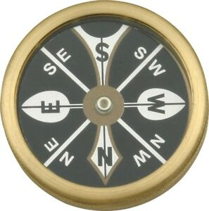 Marbles-Large-Pocket-Compass-Brass-Construction-1-3-4-034-Diameter-MR223
